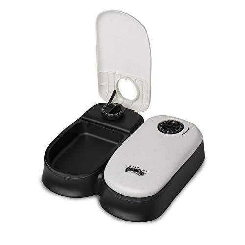 BIGWING Style Alimentador Automático Comedero para Mascota/Gato/Perro Puntuable Temporizador Programable, 2 x 300 ML