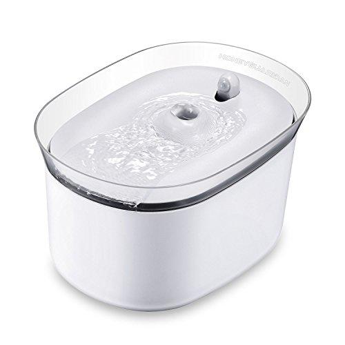 HoneyGuaridan W25 dispensador Silencia Fuente de Agua Automtica Inteligente con Sensor de Infrarrojos,bebederos Mascotas,Fuentes para Perros y Gatos - Pack de 2 Filtros de Carbn