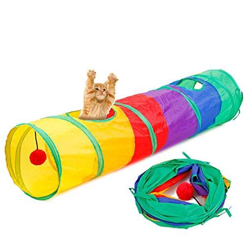 Túnel multicolor con pelota