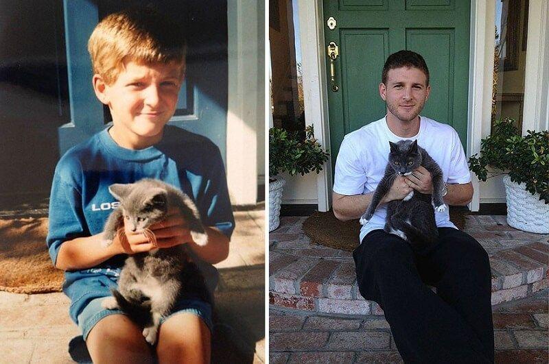 Gatos antes y después de haber crecido 7